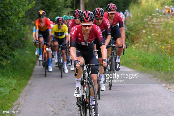 Owain Doull of The United Kingdom and Team Ineos / Michal Golas of Poland and Team Ineos / Ian Stannard of The United Kingdom and Team Ineos /...