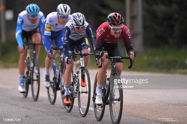 Owain Doull of The United Kingdom and Team INEOS / Romain Combaud of France and Team Nippo Delko One Provence / Ian Garrison of The United States and...