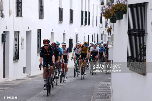 Owain Doull of United Kingdom and Team INEOS Grenadiers leads The Peloton during the 67th Vuelta A Andalucia - Ruta Del Sol 2021, Stage 1 a 152,1km...
