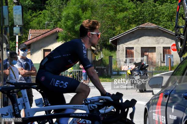 Owain Doull of United Kingdom; and Team INEOS Grenadiers warming-up at start during the 45th La Route d'Occitanie - La Depeche Du Midi 2021, Stage 4...