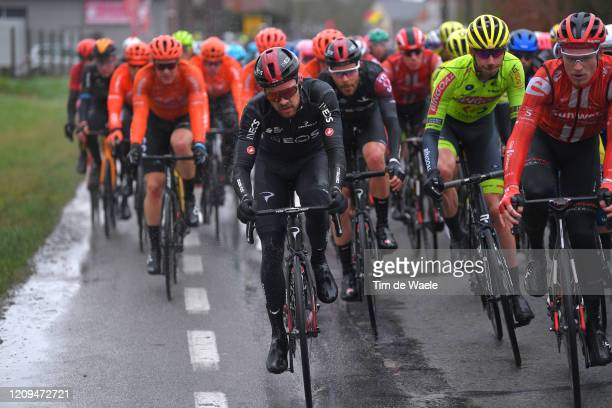 Owain Doull of United Kingdom and Team INEOS / Peloton / Rain / during the 75th Omloop Het Nieuwsblad 2020 Men Race a 200km race from Ghent to Ninove...