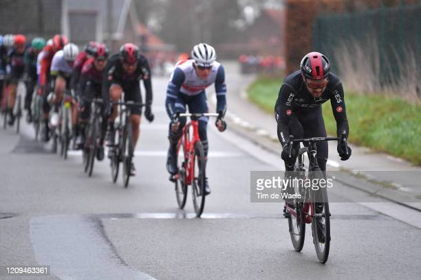 Owain Doull of United Kingdom and Team INEOS / Rain / during the 75th Omloop Het Nieuwsblad 2020 Men Race a 200km race from Ghent to Ninove /...
