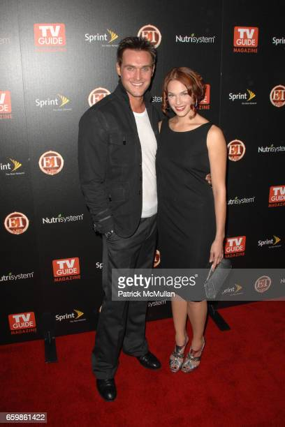 Owain Yeoman and Amanda Righetti attend TV GUIDE MAGAZINE HOT LIST PARTY at SLS Hotel on November 10 2009 in Beverly Hills California