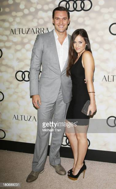 Owain Yeoman and wife Gigi Yallouz arrive at the Audi and Altuzarra EMMYs week 2013 kickoff party held at Cecconi's Restaurant on September 15 2013...