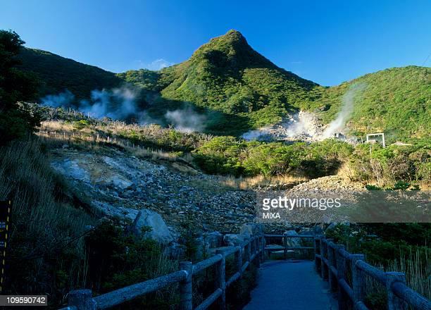 owakudani, hakone, kanagawa, japan - fuji hakone izu national park stock photos and pictures