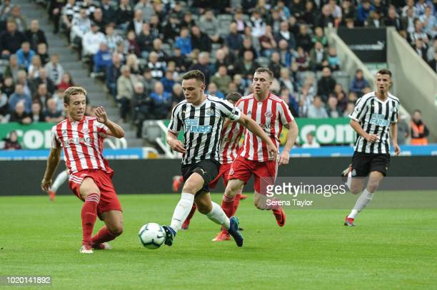 Owen Bailey of Newcastle United controls the ball during the Premier League 2 Match between Newcastle United and Sunderland at StJames Park on August...
