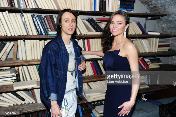 Owen Campbell and Trieste Kelly Dunn attend the 'Blame' After Party 2017 Tribeca Film Festival at Troy Liquor Bar on April 22 2017 in New York City