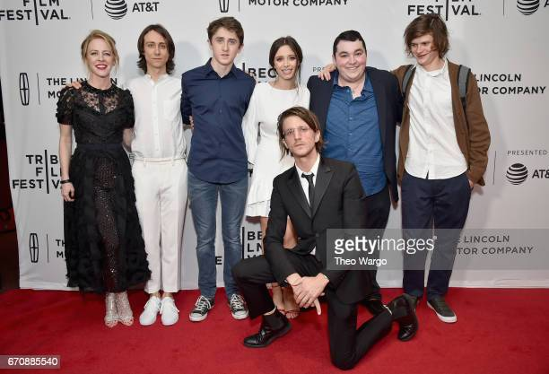Owen Campbell Sawyer Barth Elizabeth Cappuccino Kevin Phillips Max Talisman Charlie Tahan and Amy Hargreaves attend the 'Super Dark Times' Premiere...