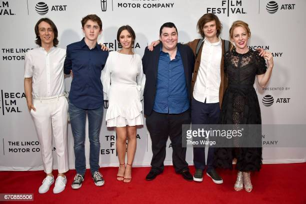 Owen Campbell Sawyer Barth Elizabeth Cappuccino Max Talisman Charlie Tahan and Amy Hargreaves attend the Super Dark Times Premiere during 2017...
