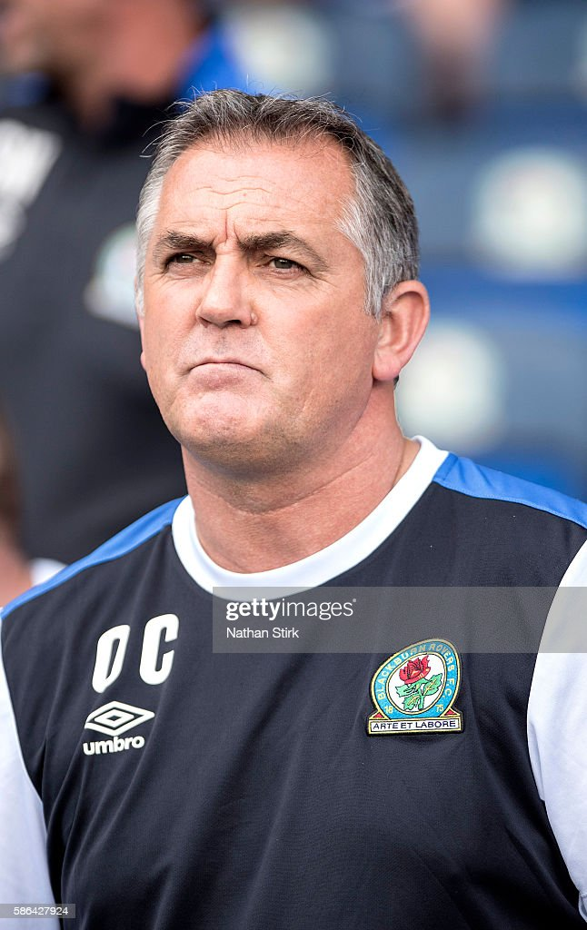 Owen Coyle manager of Blackburn Rovers looks on during the Sky Bet Championship match between Blackburn Rovers and Norwich City at Ewood park on August 6, 2016 in Blackburn, England.