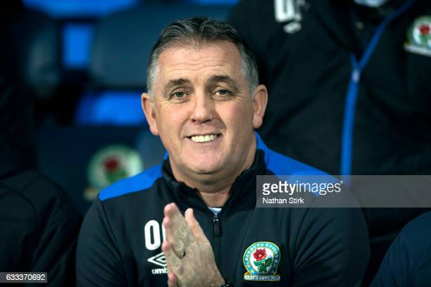 Owen Coyle manager of Blackburn Rovers looks on during the Sky Bet Championship match between Blackburn Rovers and Leeds United at Ewood Park on...