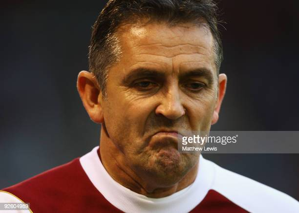 Owen Coyle manager of Burnley looks on during the Barclays Premier League match between Burnley and Hull City at Turf Moor on October 31 2009 in...