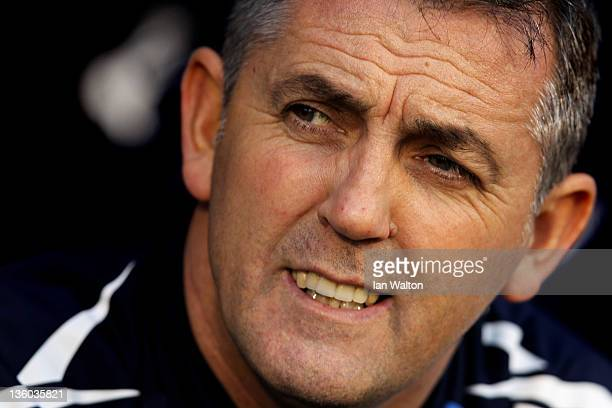 Owen Coyle the Bolton manager looks on during the Barclays Premier League match between Fulham and Bolton Wanderers at Craven Cottage on December 17...