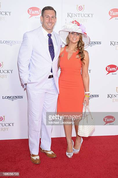 Owen Daniels and guest attend the 139th Kentucky Derby at Churchill Downs on May 4 2013 in Louisville Kentucky
