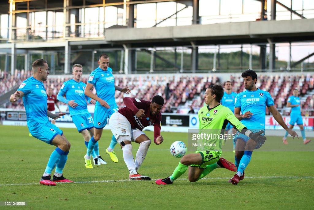 Northampton Town v Cheltenham Town - Sky Bet League Two Play Off Semi-final 1st Leg : News Photo