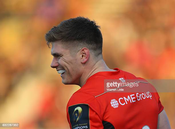 Owen Farrell Captain of Saracens looks on during the European Rugby Champions Cup between Saracens and RC Toulon at Allianz Park on January 21 2017...