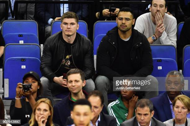 Owen Farrell during the NBA game between Boston Celtics and Philadelphia 76ers at The O2 Arena on January 11 2018 in London England