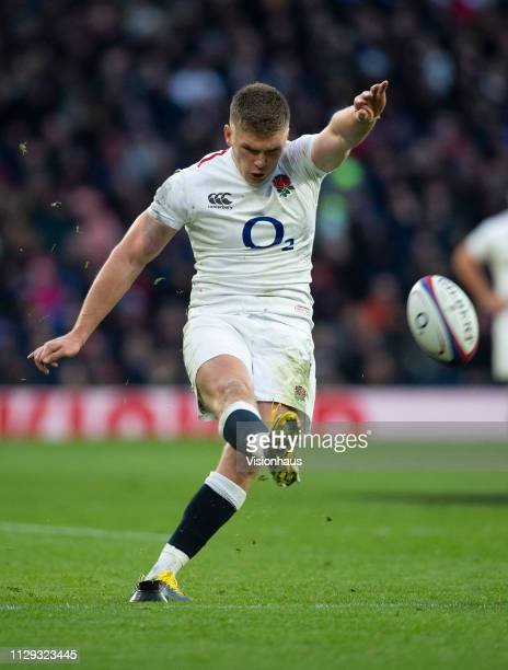 Owen Farrell of England during the Guinness Six Nations match between England and France at Twickenham Stadium on February 10 2019 in London England