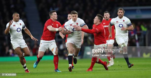 Owen Farrell of England during the NatWest Six Nations match between England and Wales at Twickenham Stadium on February 10 2018 in London England
