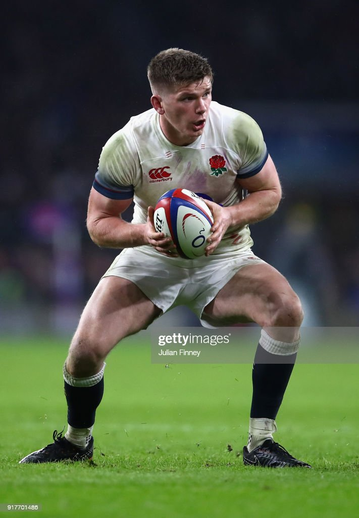 Owen Farrell of England in action during the NatWest Six Nations round two match between England and Wales at Twickenham Stadium on February 10, 2018 in London, England.