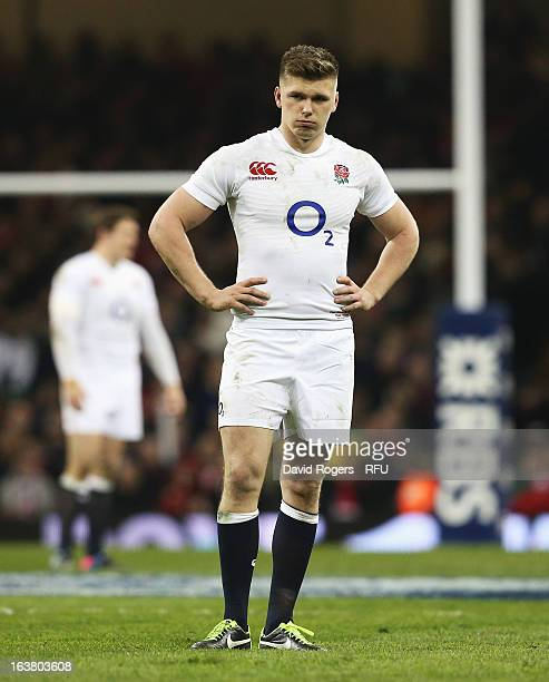 Owen Farrell of England looks dejected during the RBS Six Nations match between Wales and England at Millennium Stadium on March 16 2013 in Cardiff...