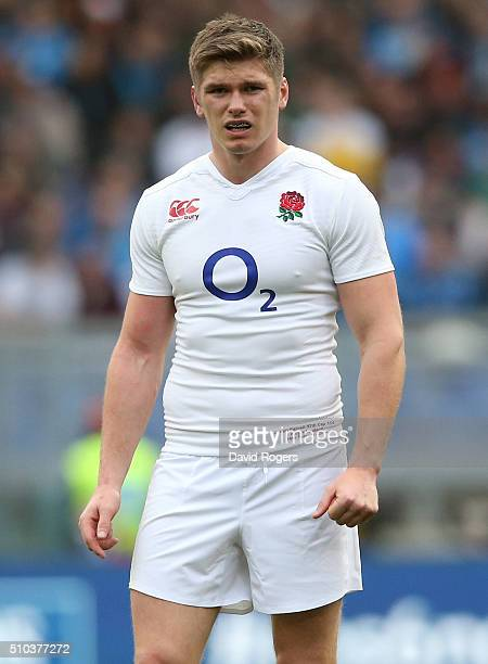 Owen Farrell of England looks on during the RBS Six Natiions match between Italy and England at the Stadio Olimpico on February 14 2016 in Rome Italy