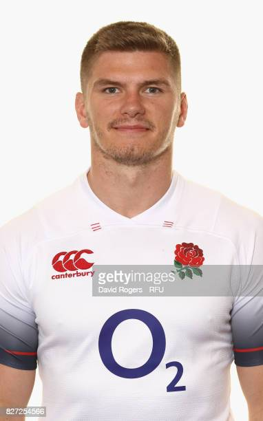 Owen Farrell of England poses for a portrait at The Lensbury on August 5 2017 in Teddington England