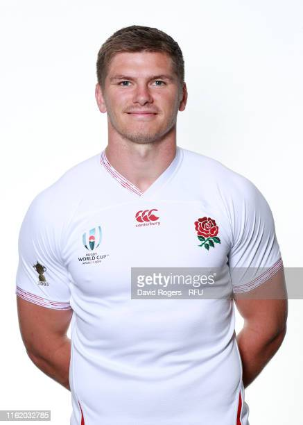 Owen Farrell of England poses for a portrait during the England Rugby World Cup Training Squad Photocall on July 14 2019 in Bristol England