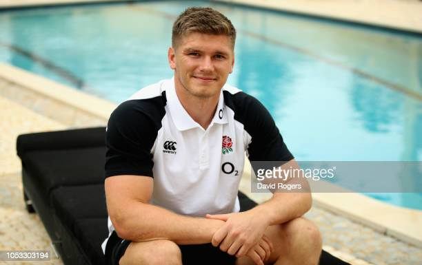 Owen Farrell poses during the England media session held at Browns Sport and Leisure Club on October 25 2018 in Vilamoura Portugal