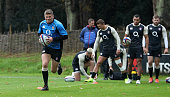 bagshot england owen farrell sprints with