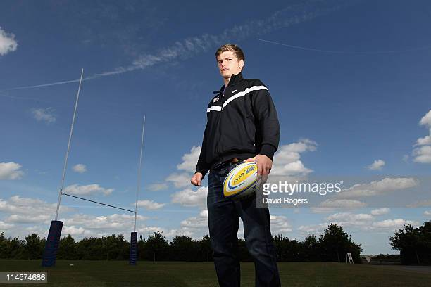 Owen Farrell the Saracens standoff poses at the Saracens medi session held at the Saracens training ground on May 24 2011 in St Albans England