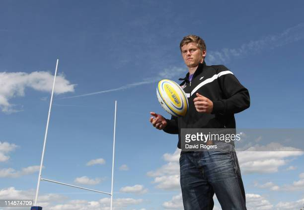 Owen Farrell, the Saracens standoff, poses at the Saracens medi session held at the Saracens training ground on May 24, 2011 in St Albans, England.