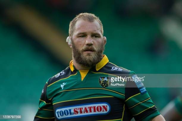 Owen Franks of Northampton Saints during the Gallagher Premiership match between Northampton Saints and Sale Sharks at Franklin's Gardens Northampton