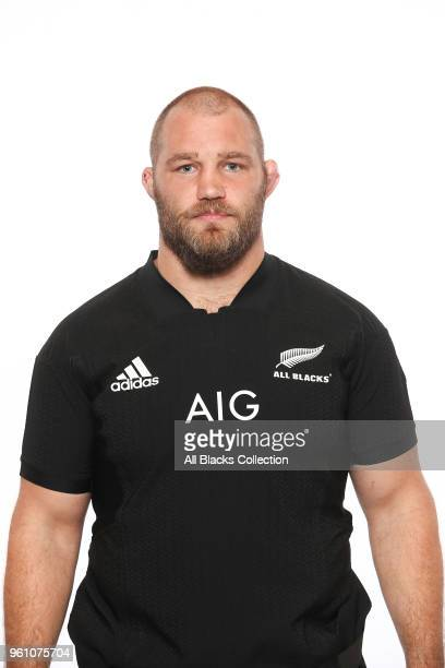 Owen Franks poses during a New Zealand All Blacks headshots session on May 21 2018 in Auckland New Zealand