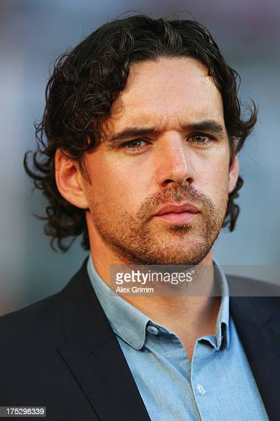 Owen Hargreaves looks on prior to the Audi Cup match between FC Sao Paulo and AC Milan at Allianz Arena on August 1 2013 in Munich Germany