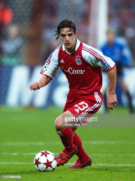 Owen Hargreaves of Bayern Munich in action during the UEFA Champions League Group C match between Bayern Munich and Juventus at the Olympiastadion on...