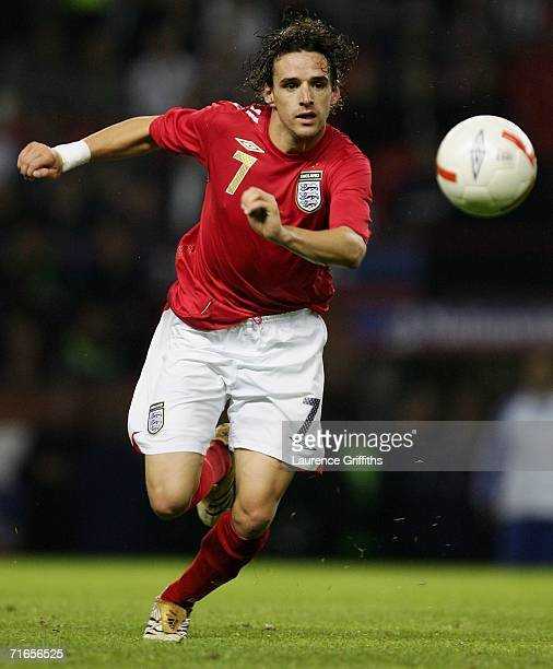 Owen Hargreaves of England in action during the International Friendly match between England and Greece at Old Trafford on August 16, 2006 in...