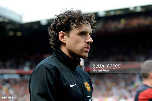 Owen Hargreaves of Manchester United heads for the bench prior to the Barclays Premier League match between Manchester United and Tottenham Hotspur...