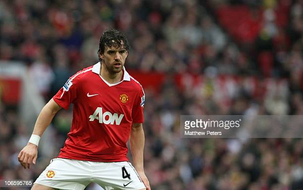 Owen Hargreaves of Manchester United in action during the Barclays Premier League match between Manchester United and Wolverhampton Wanderers at Old...