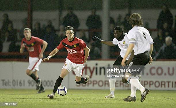 Owen Hargreaves of Manchester United in action during the FA Premier Reserve League match between Manchester United Reserves and Burnley Reserves at...