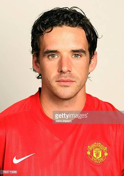Owen Hargreaves of Manchester United poses during the club's annual pre-season photocall at Carrington Training Ground on August 17 2007 in...
