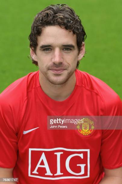 Owen Hargreaves of Manchester United poses during the club's official annual photocall at Old Trafford on August 28 2007 in Manchester England
