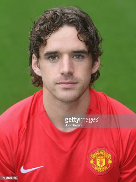 Owen Hargreaves of Manchester United poses during the club's official annual photocall at Old Trafford on August 27 2008 in Manchester, England.