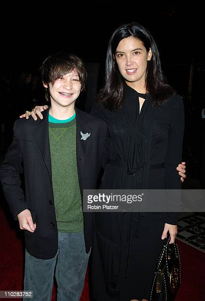 Owen Kline and mother Phoebe Cates during New York Film Critics Circle 71st Annual Awards Dinner Arrivals at Ciprianis 42nd Street in New York City...
