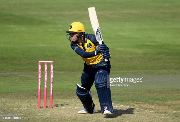 Owen Morgan of Glamorgan bats during a T20 Friendly match between Glamorgan and Netherlands at Sophia Gardens on July 04, 2019 in Cardiff, Wales.