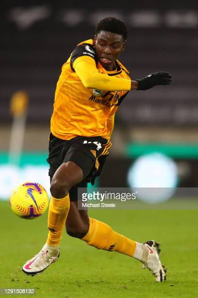 Owen Otasowie of Wolverhampton Wanderers during the Premier League match between Wolverhampton Wanderers and Chelsea at Molineux on December 15, 2020...