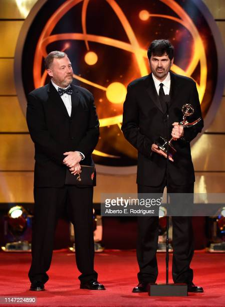 Owen Renfroe accepts the Outstanding Directing Team for a Drama Series award for 'The Young and the Restless' onstage at the 46th annual Daytime Emmy...