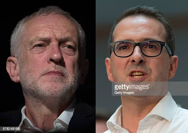 COMPOSITE OF TWO IMAGES Image numbers 538274256 and 576757884 In this composite image a comparision has been made between the Labour Leadership...