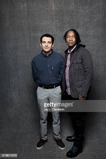 Owen Suskind and Roger Ross Williams of the film 'Life Animated' pose for a portrait at the 2016 Sundance Film Festival on January 24 2016 in Park...