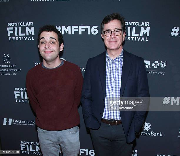 """Owen Suskind and Stephen Colbert attend the Montclair Film Festival 2016 Opening Night """"Life Animated"""" on April 30, 2016 in Montclair City."""